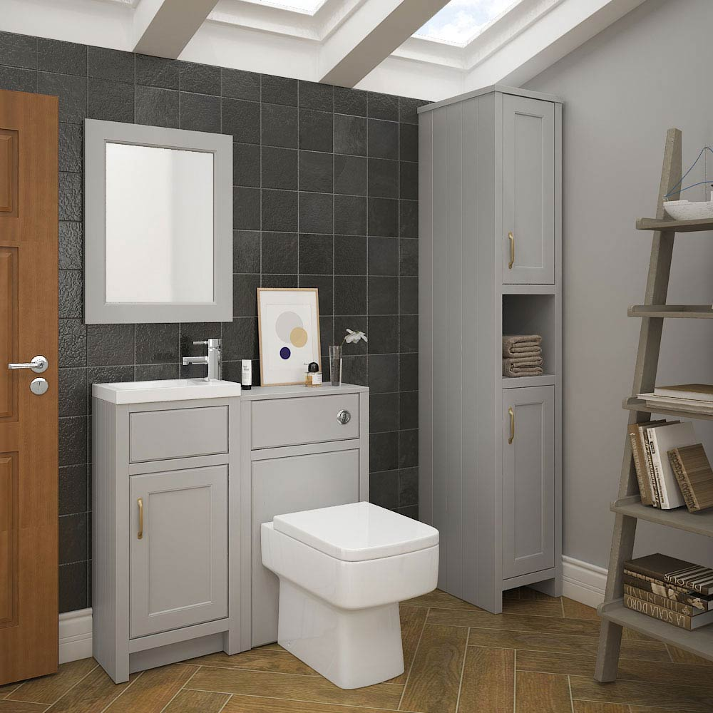 Chatsworth Traditional Grey Cloakroom Suite  Standard Large Image
