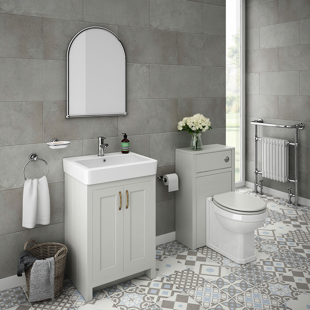 Chatsworth traditional grey sink vanity unit toilet - Bathroom renovation order of trades ...