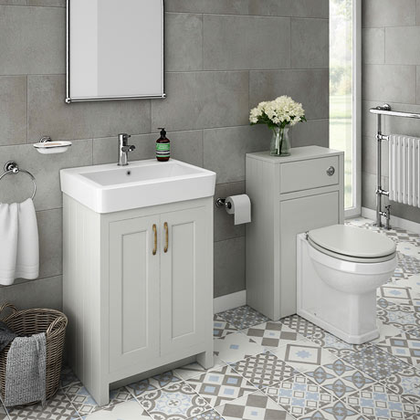Chatsworth traditional grey sink vanity unit toilet for Bath sink and toilet packages
