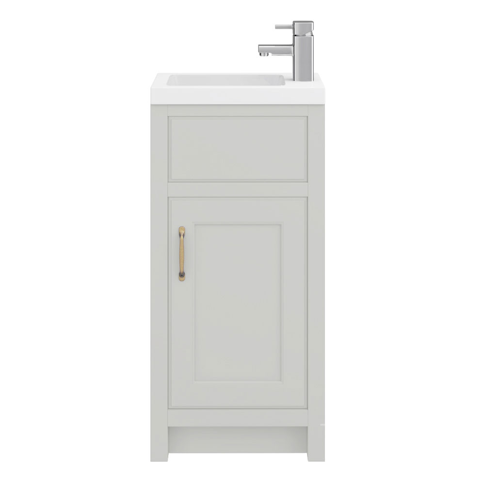 Chatsworth Traditional Grey Small Vanity - 400mm Wide Profile Large Image