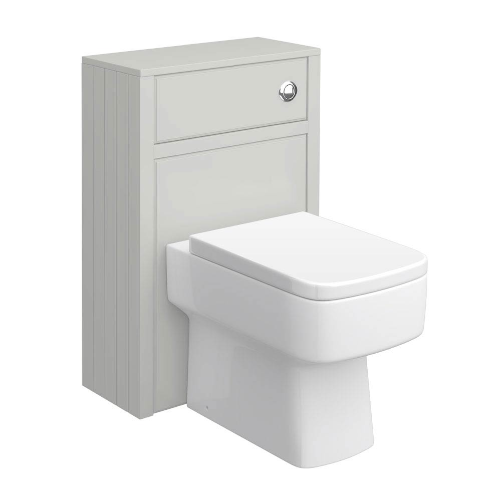 Chatsworth Traditional Grey Toilet Unit - 500mm Wide profile large image view 1