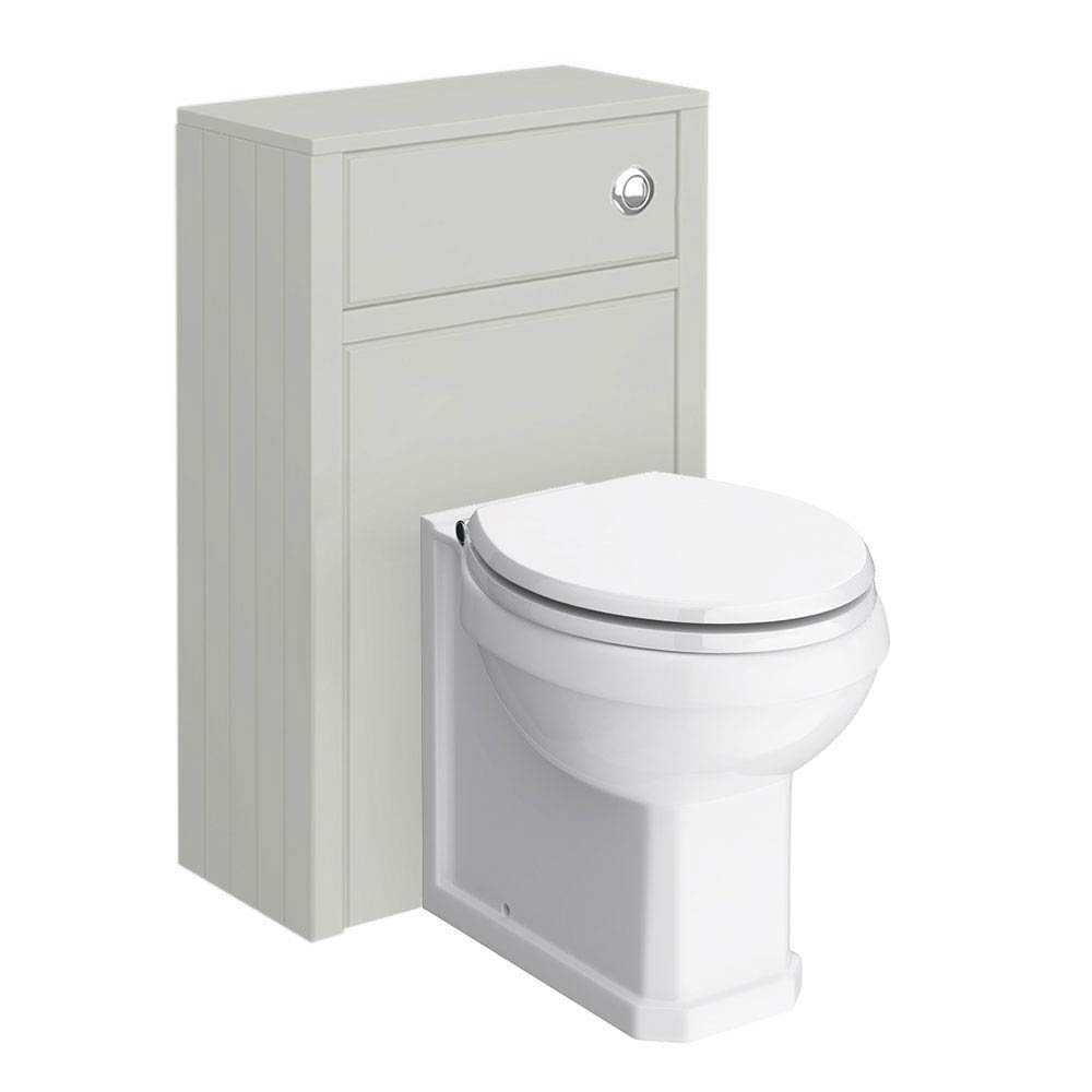 Chatsworth Traditional Grey Toilet Unit + Pan profile large image view 1