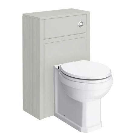 Chatsworth Traditional Grey Toilet Unit + Pan