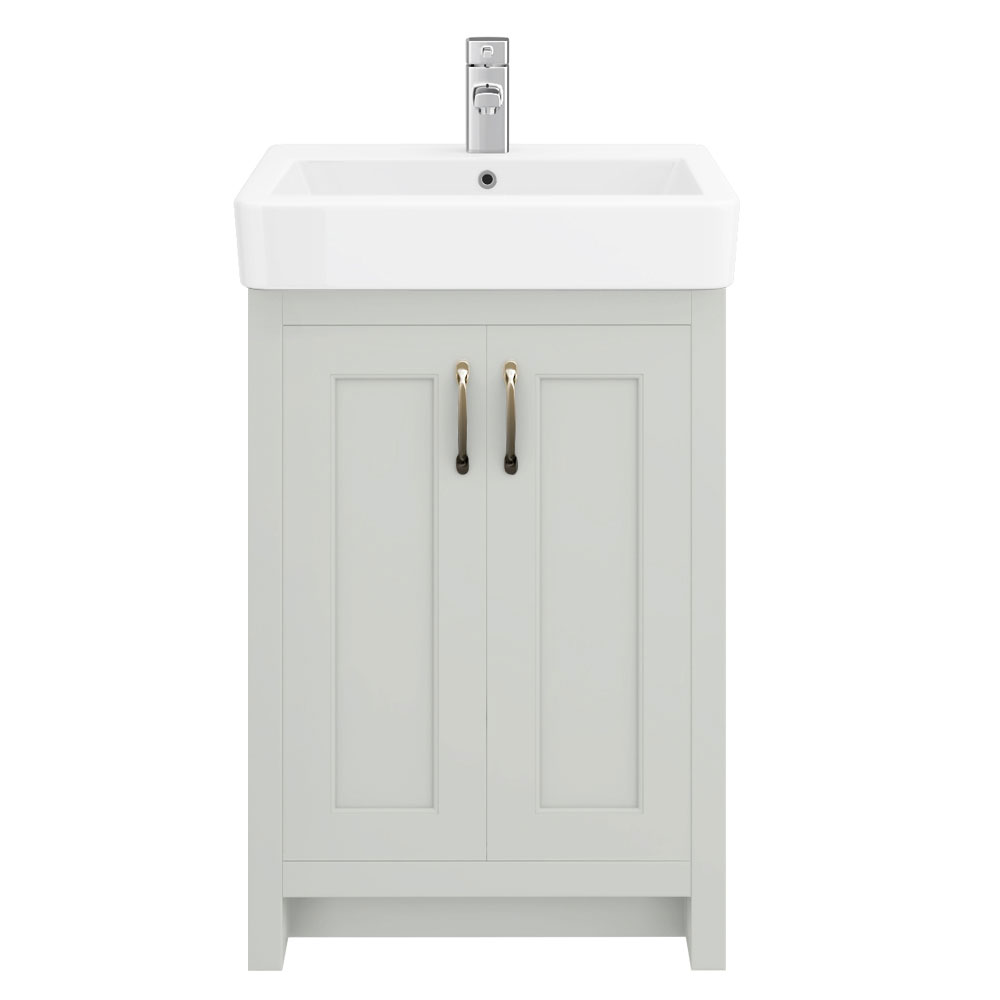 Chatsworth Traditional Grey Vanity - 560mm Wide profile large image view 2