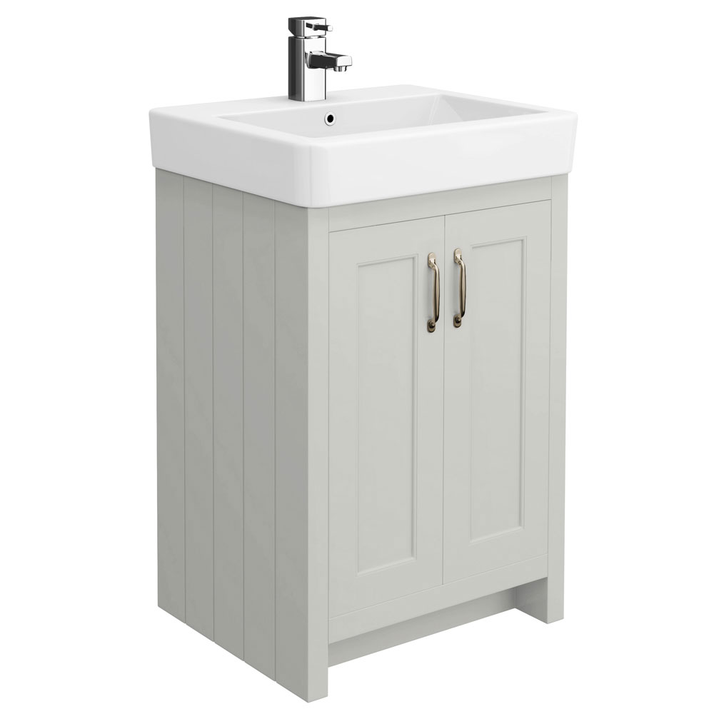 Chatsworth Traditional Grey Vanity - 560mm Wide Large Image