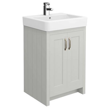 Chatsworth Traditional Grey Vanity - 560mm Wide