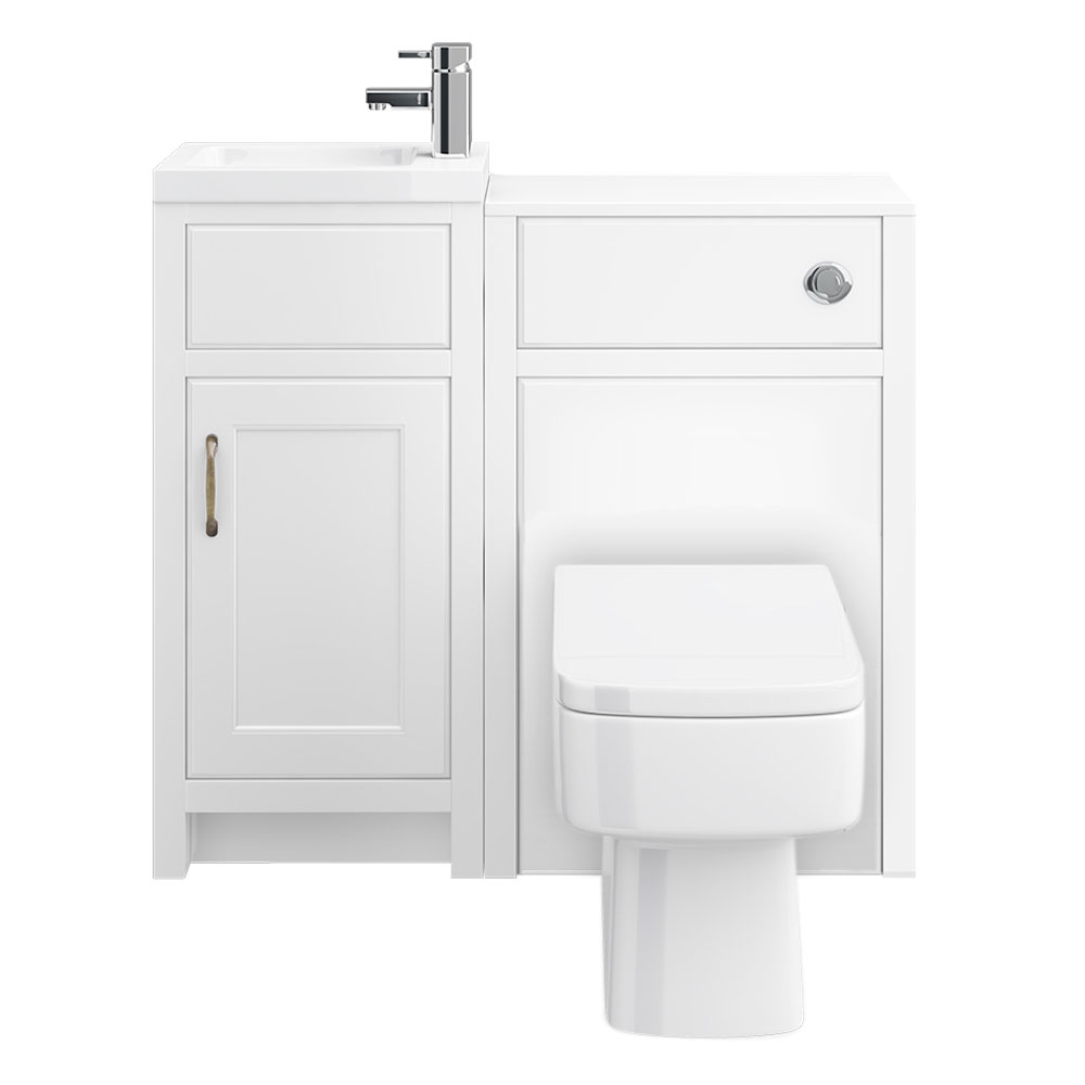 Chatsworth Traditional White Cloakroom Suite Profile Large Image