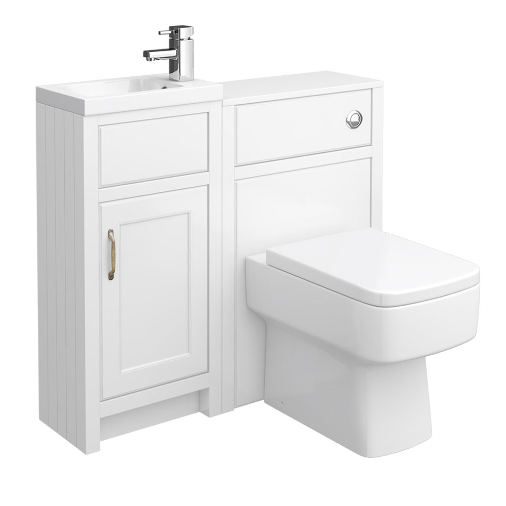 Chatsworth Traditional White Combination Unit