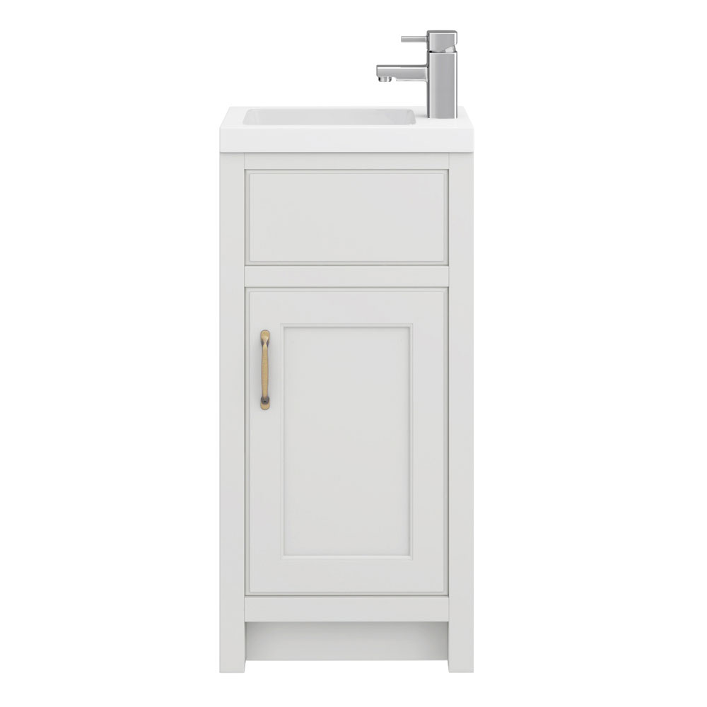Chatsworth Traditional White Small Vanity - 400mm Wide Profile Large Image