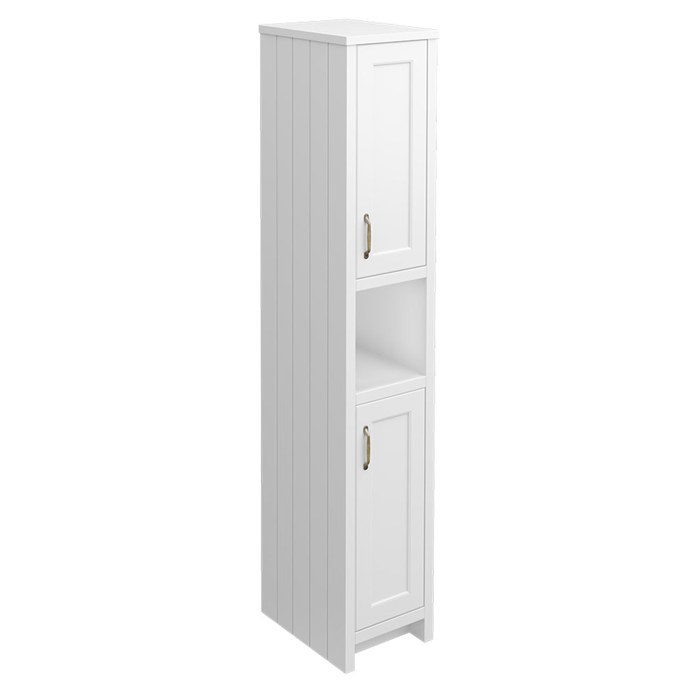 Chatsworth Traditional White Tall Cabinet Large Image
