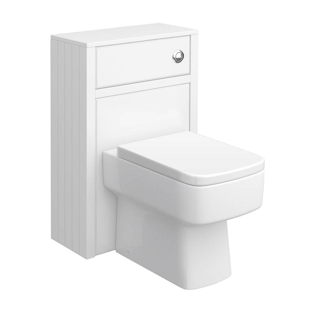 Chatsworth Traditional White Toilet Unit - 500mm Wide Large Image