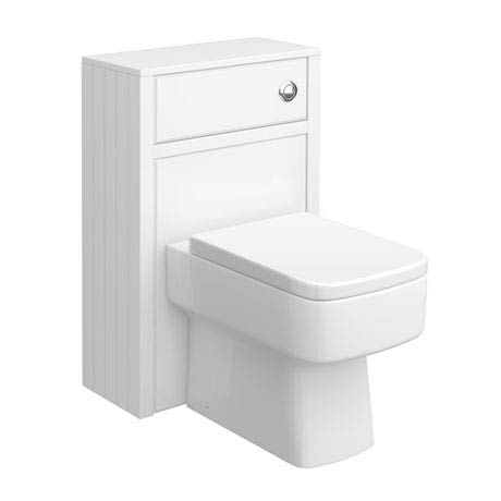 Chatsworth Traditional White Toilet Unit - 500mm Wide