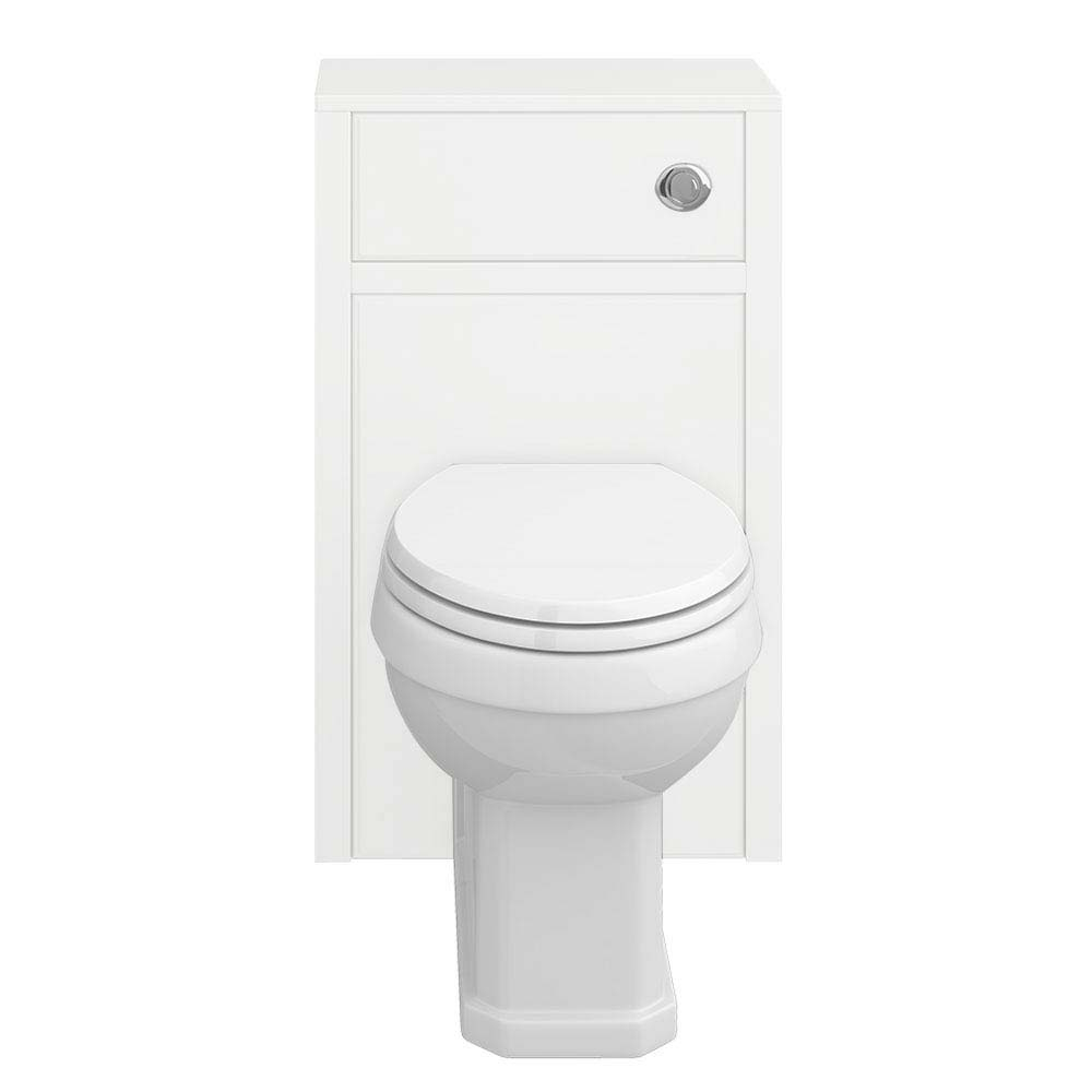 Chatsworth Traditional White Toilet Unit + Pan profile large image view 3