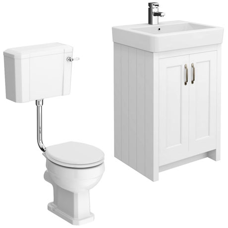 Chatsworth White 4-Piece Low Level Bathroom Suite