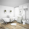 Chatsworth High Level Grey Roll Top Bathroom Suite profile small image view 1