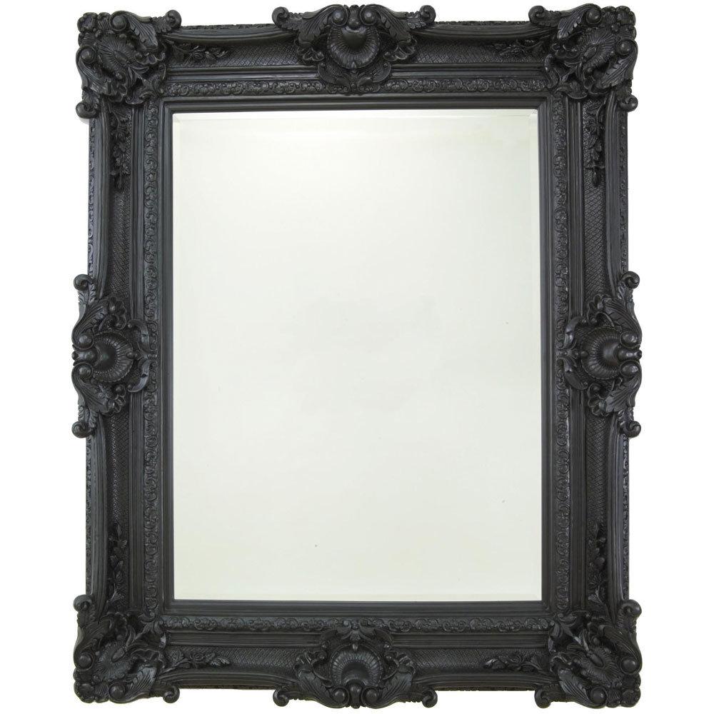 Heritage Chesham Grand Mirror (2240 x 1420mm) - Stone Black Large Image