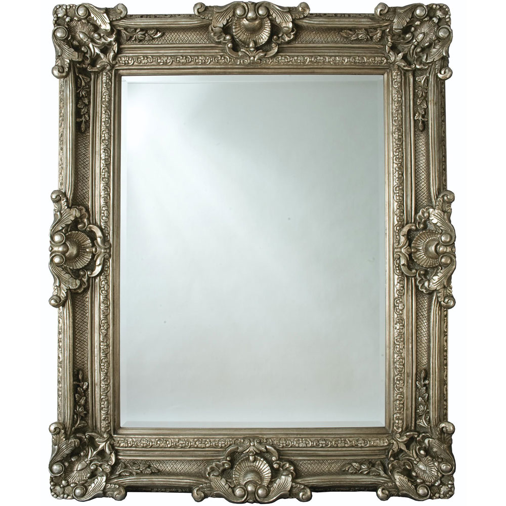 Heritage Chesham Grand Mirror (2240 x 1420mm) - Pewter Silver Large Image