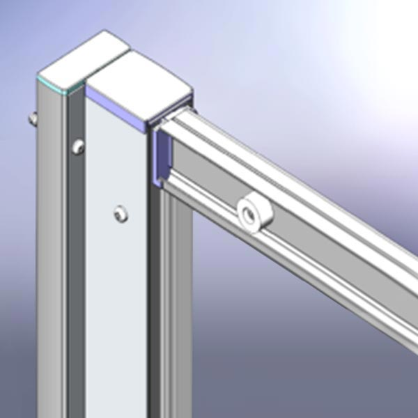 Chrome 20mm Extension Profile Kit - Various Heights Large Image