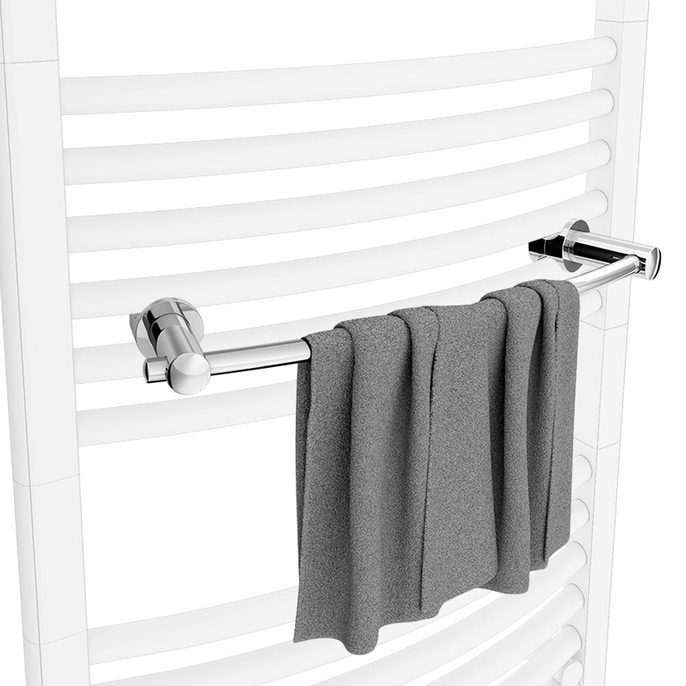 Chrome Rail Attachment for Heated Towel Rails Large Image