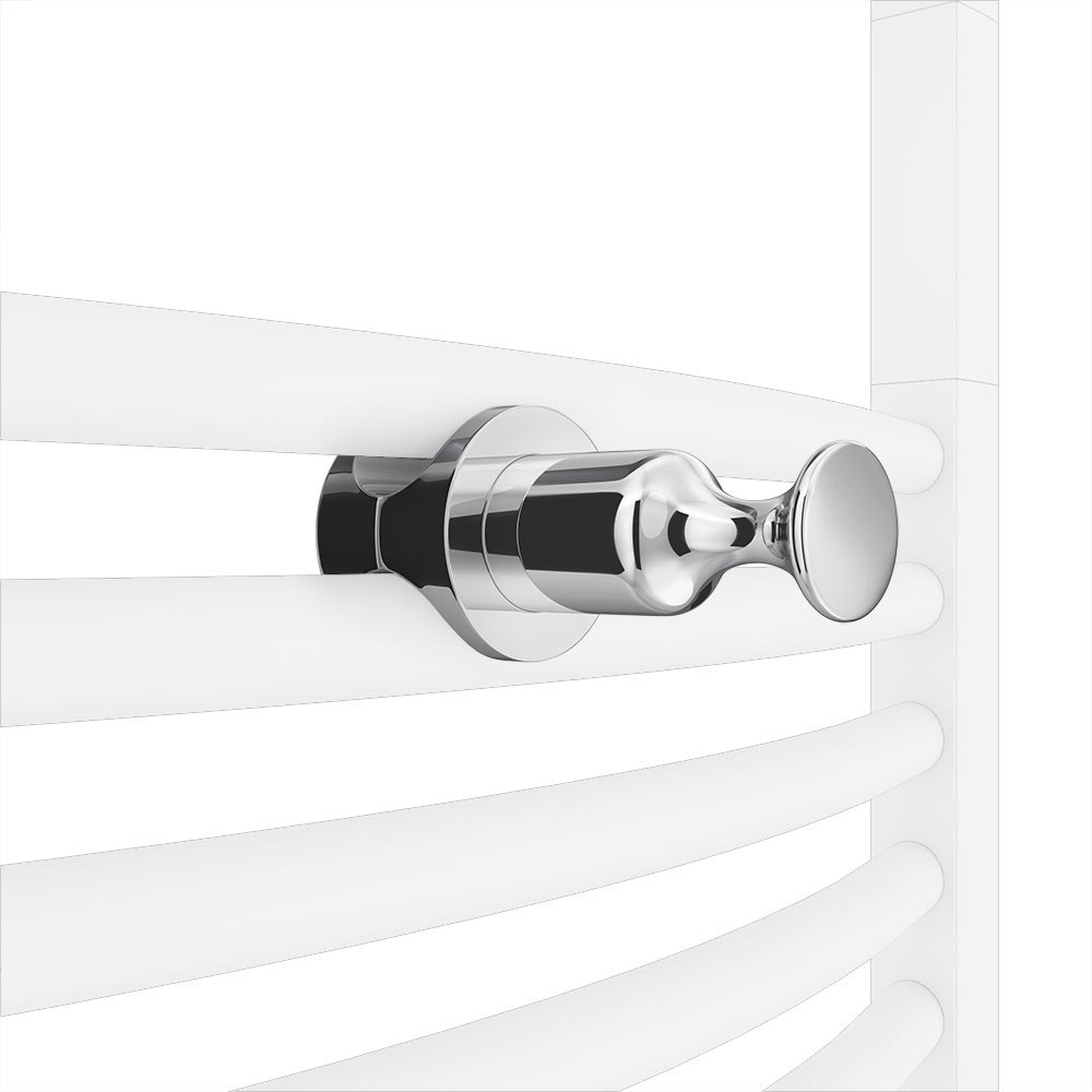 Chrome Robe Hook Attachment for Heated Towel Rails profile large image view 1