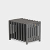 Paladin Churchill Cast Iron Radiator (350mm High) profile small image view 1
