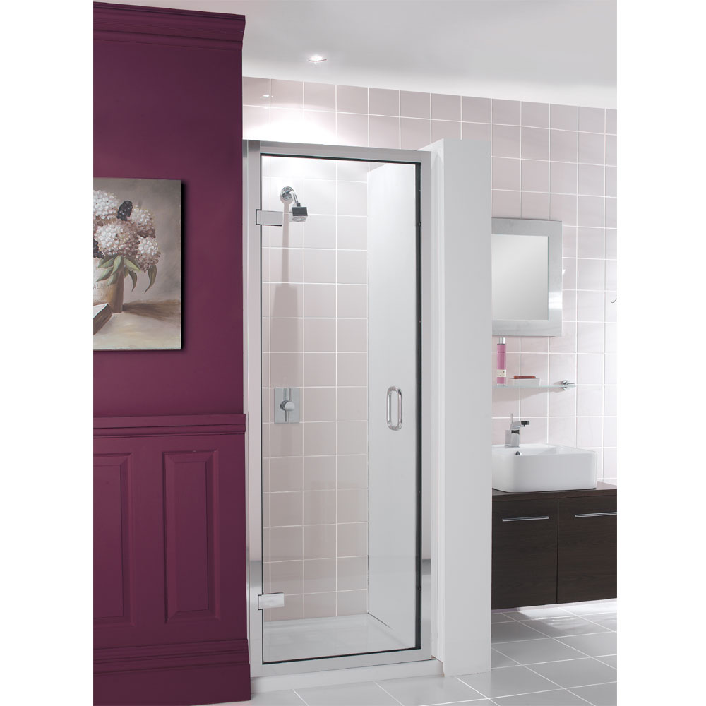 Simpsons - Classic Framed Hinged Shower Door - 3 Size Options Large Image