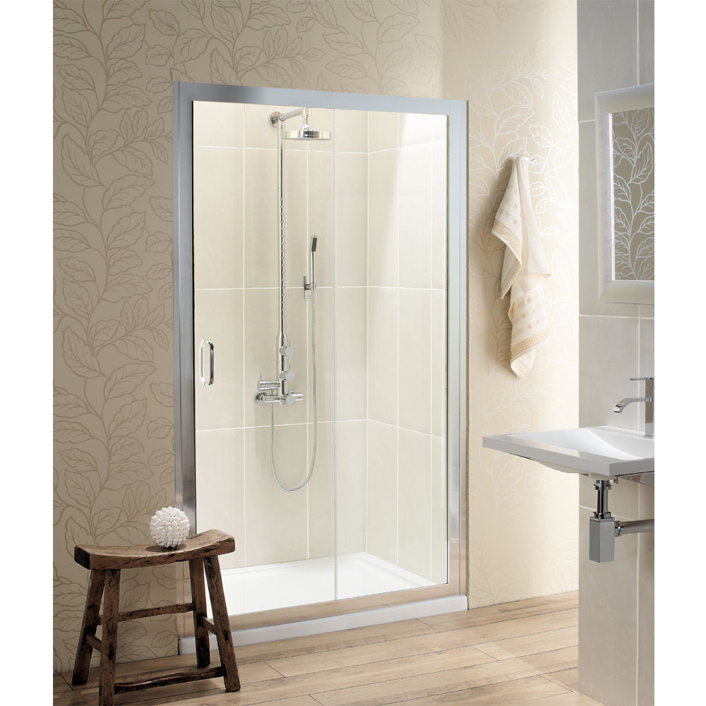 Simpsons - Classic Single Slider Shower Door - 4 Size Options Large Image
