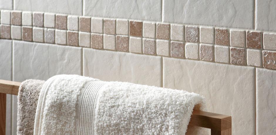 Clean bathroom wall tiles