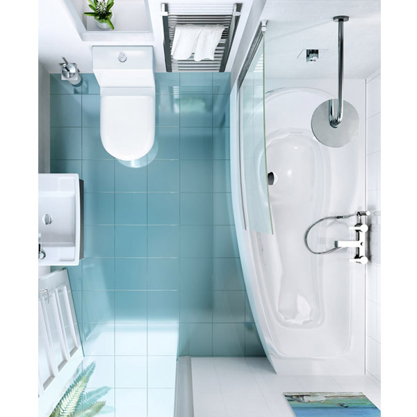 Cleargreen - EcoCurve 1700 x 750 Shower Bath with Front Panel & Bathscreen profile large image view 2