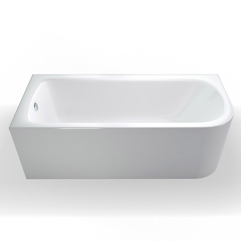 Cleargreen - Viride offset 170cm x 75cm single ended bath with panel Standard Large Image