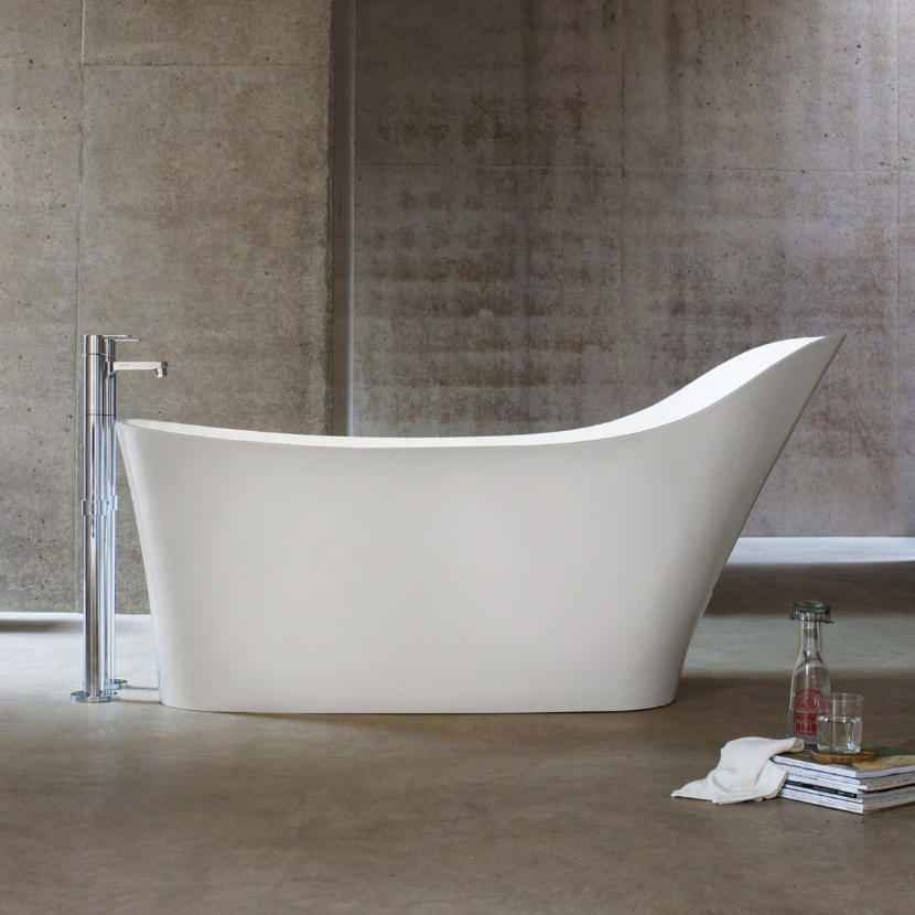 Clearwater - Nebbia Natural Stone Bath - 1600 x 800mm - N14 profile large image view 1