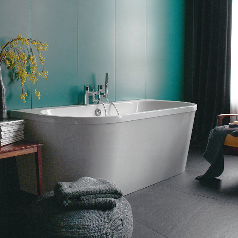 Clearwater - Saturn 1700 x 750 Modern Back to Wall Freestanding Bath ...