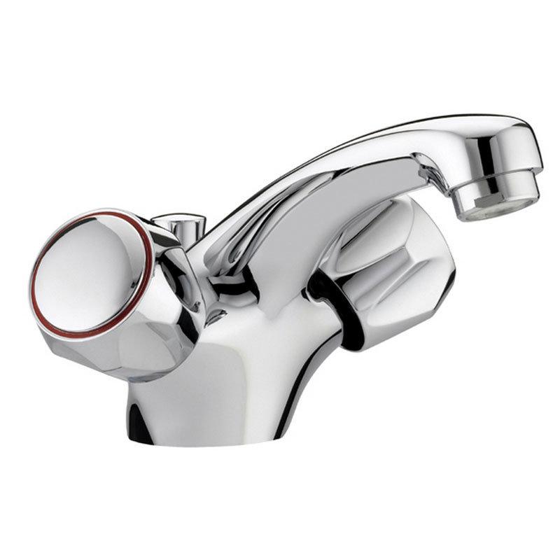 Bristan - Club Mono Basin Mixer w/ Pop Up Waste - Chrome w/ Metal Heads - VAC-BAS-C-MT Large Image