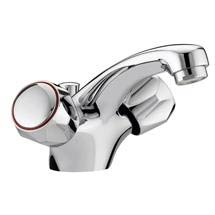 Bristan - Club Mono Basin Mixer w/ Pop Up Waste - Chrome w/ Metal Heads - VAC-BAS-C-MT Medium Image