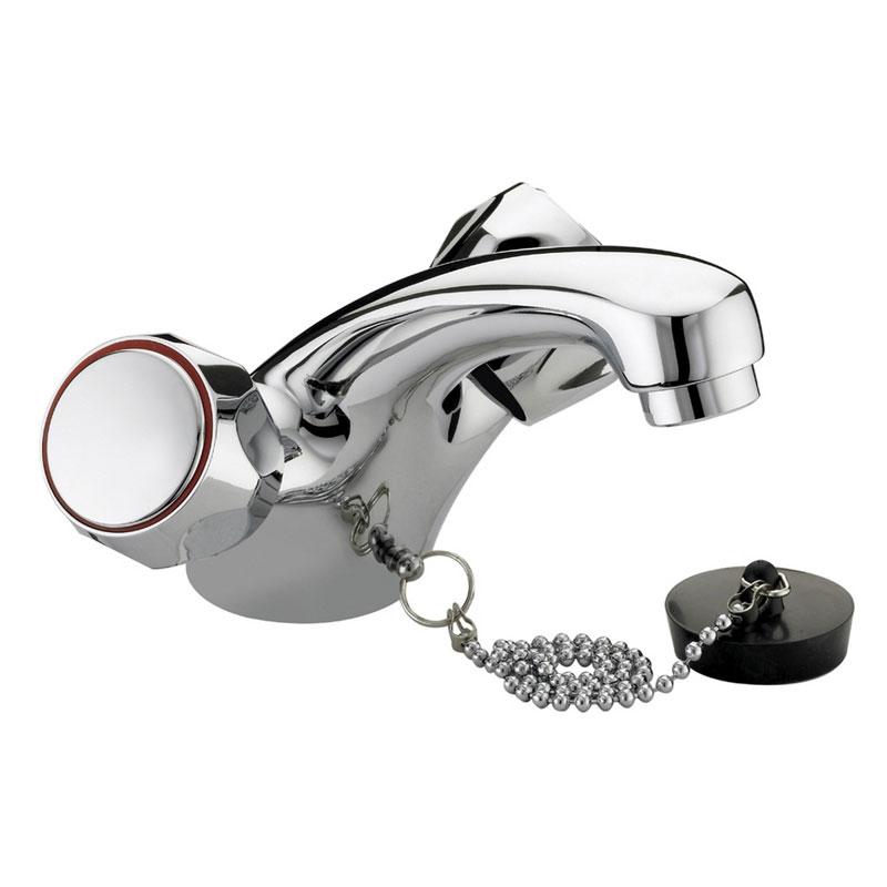 Bristan - Club Mono Basin Mixer (no waste) - Chrome with Metal Heads - VAC-BASNW-C-MT Large Image