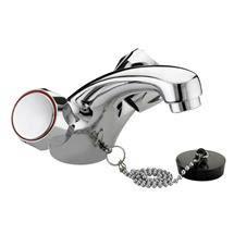 Bristan - Club Mono Basin Mixer (no waste) - Chrome with Metal Heads - VAC-BASNW-C-MT Medium Image
