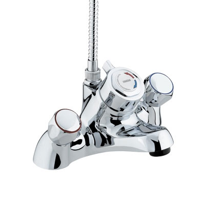 Bristan - Club Thermostatic Bath Filler with Shower - Chrome - VAC-THBSM-C Large Image
