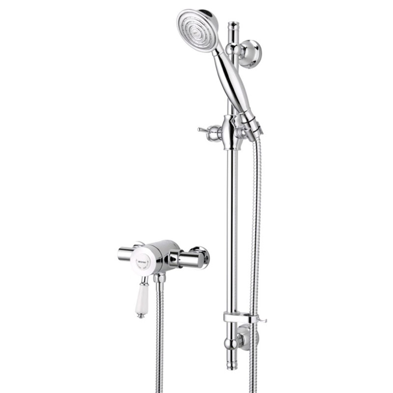 Bristan - Colonial2 Thermostatic Surface Mounted Shower Valve w/ Adjustable Riser Large Image