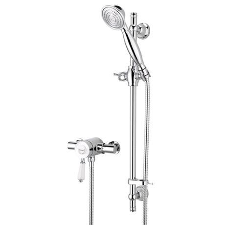 Bristan - Colonial2 Thermostatic Surface Mounted Shower Valve w/ Adjustable Riser
