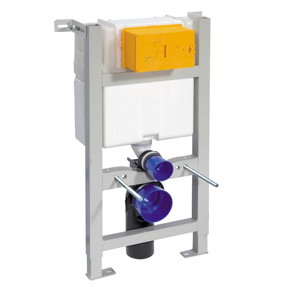 Compact Toilet Fixing Frame with Dual Flush Cistern profile large image view 2