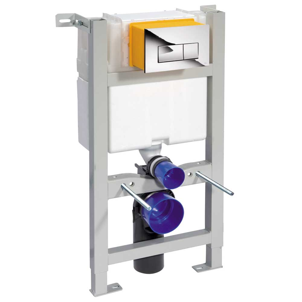 Compact Toilet Fixing Frame with Dual Flush Cistern Large Image