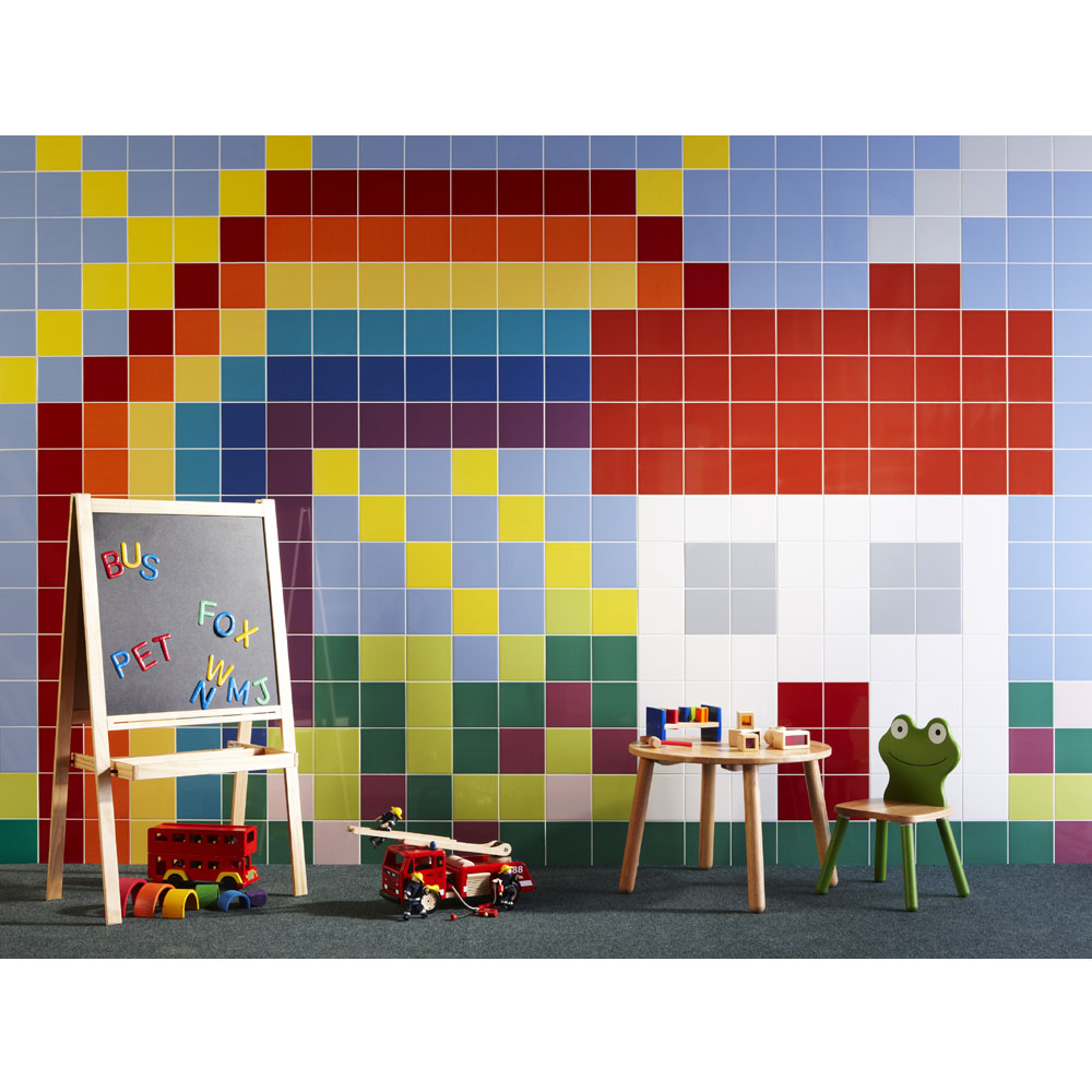BCT Tiles - 44 Colour Compendium Aubergine Gloss Ceramic Wall Tiles - 148x148mm - BCT16403 Feature Large Image