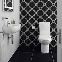 Cool Cloakroom Suite - Gloss White Medium Image