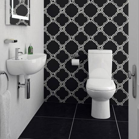 Cool Cloakroom Suite - Gloss White