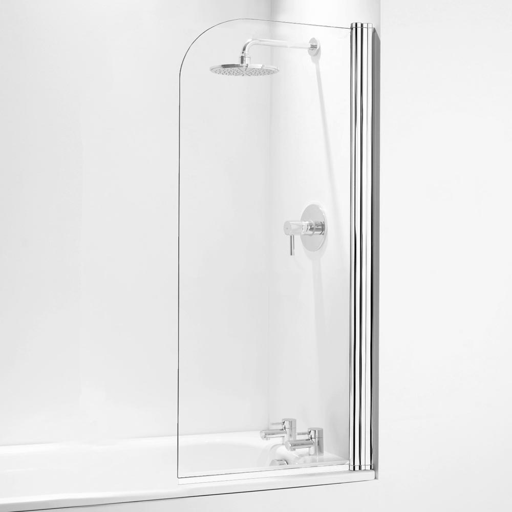 Coram Curved Bath Screen - 800mm - 2 Colour Options  Profile Large Image