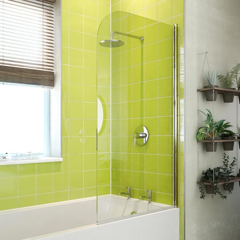 Coram Curved Bath Screen - 800mm - 2 Colour Options Large Image