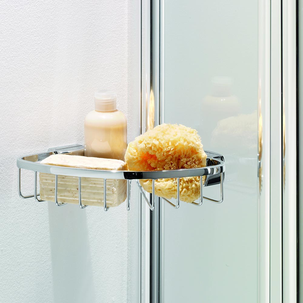 Coram Curved Bath Screen with Side Panel - 1050mm - 2 Colour Options profile large image view 2
