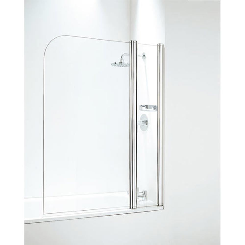 Coram Curved Bath Screen with Side Panel - 1050mm Wide - Chrome - SFR105CUC