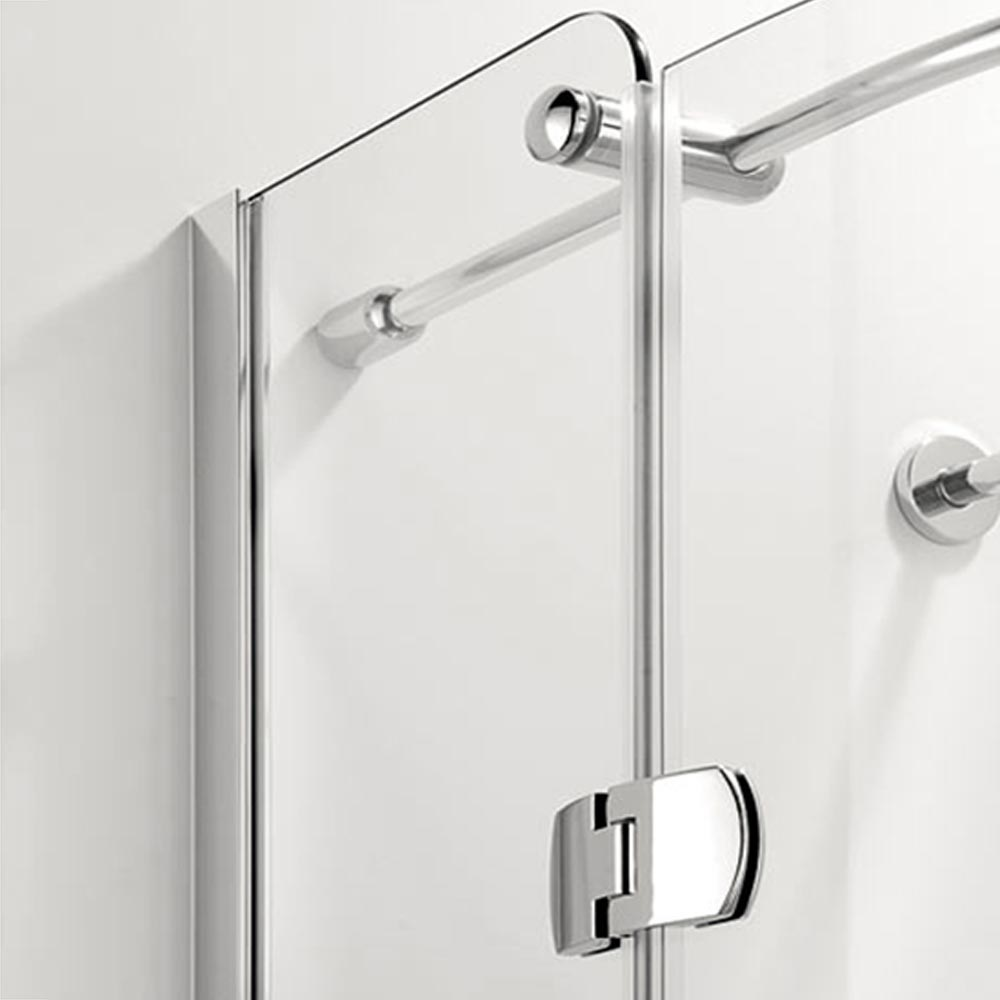 Coram Frameless Premier Hinged Shower Quadrant - 2 Size Options profile large image view 3