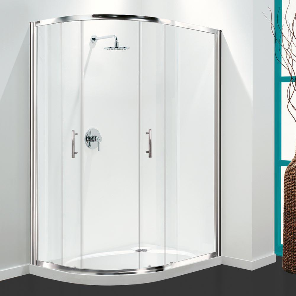 Coram Optima Offset Quadrant Shower Enclosure - Chrome - Various Size Options Large Image